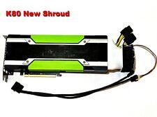 GPU Cooler with High-speed Fan forNvidia Tesla K80 P100 V100 (Long shroud)