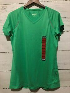 NWT Kirkland Athletic Lightweight V Neck Tee Shirt Green Size M Wicking NEW J8