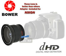 52mm Bower .42x Fisheye W/ Removable Macro 4 Nikon D3 D90 D100 D200 D300 D300S