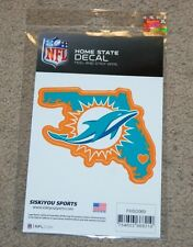 MIAMI DOLPHINS NFL FOOTBALL SPORTS HOME STATE SMALL DECAL