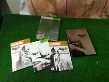 DC Batman Arkham City limited edition steelbook MICROSOFT XBOX 360  + Manual