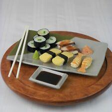 Ta Sheng Melamine Sushi Fish Shrimp Fake Food Swan Dip Tray Chopsticks