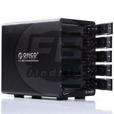 "ORICO Disk Dock 9558U3 5 Bay 3.5"" Hard Drive Enclosure USB 3.0 HDD 8TB"
