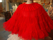 SQUARE DANCE MALCO MODES # 592 CHRISTMAS RED PETTICOAT  SZ. SM