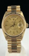 MINT ♛ ROLEX ♛ PRESIDENT DAY DATE 18038 18K YELLOW GOLD 36MM BOX & PAPERS!