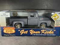 Route 66 Ertl 1956 Ford Pickup Truck 1:18 Scale Diecast Model w/Token Primer