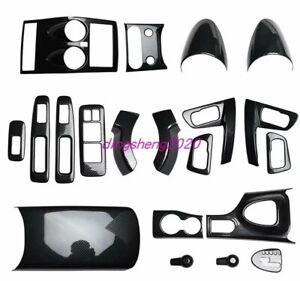 20PCS Carbon Fiber Car Interior kit Cover Trim For Nissan Qashqai 2008-2015