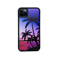 For Apple iPhone 11 XR/XS/X/8/7 Plus Real Wood Wooden Fit Case Cover- Palm Trees