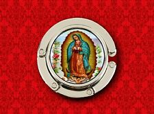 OUR LADY OF GUADALUPE VIRGIN MARY SAINT HANDBAG POCKETBOOK HANGER PURSE HOOK