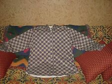 Mens Natural Issue Long Sleeve Button Front Shirt Cotton Checkered Flower L