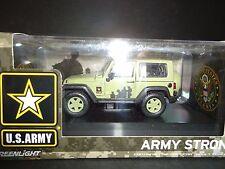 Greenlight Jeep Wrangler U. S. armée Clair Vert 1/43