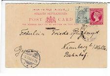SINGAPORE , POSTAL STATIONARY 2 + 1 CENT , 1900 / Q