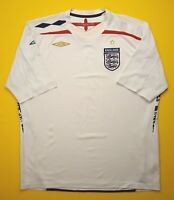 4.5/5 England soccer jersey 2XL 2007 2009 home shirt football Umbro