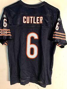 Reebok Women's NFL Jersey Chicago Bears Jay Cutler Navy sz XL