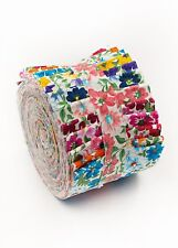 2.5 inch Prairie Flower  Jelly Roll 100% cotton fabric quilting strips 18 pieces
