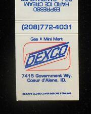 1980s? Dexco Gas Mini Mart Hard Ice Cream Deli Chili Coeur d'Alene Id Kootenai C
