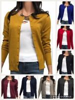 New Fashion Women Cardigan Long Sleeve Solid Open Front Sweater