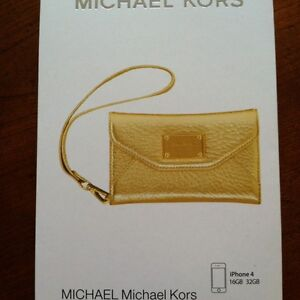 Michael Kors iPhone 4/ 4S Wallet Wristlet Case In Gold Leather