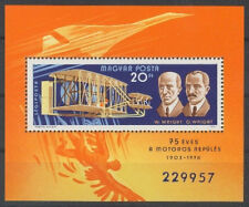 HUNGARY - 1978. AIR. Famous Aviators and their Airplanes S/S-MNH