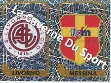 N°521 SCUDETTO # ITALIA AS.LIVORNO -  FC.MESSINA STICKER PANINI CALCIATORI 2004