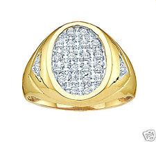 hop ice out man's business success mens diamond gold signet ring .25-carats hip