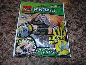 SEALED LEGO Ninjago KENDO COLE Booster Pack 9551 black ninja minifigure weapons