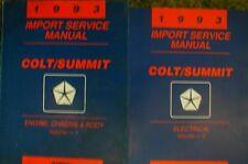 1993 Dodge Colt Summit Shop Service Manual Vol 1 2 Set 93