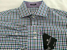 NWT BUGATCHI UOMO Mens Long Sleeve Classic Fit Button Front Shirt Size Medium M