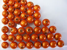 50 PERLES MIRAGE /MIRACLE /MAGIQUE 8mm ORANGE A125