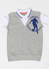 BIKKEMBERGS Kids Poloshirt grau Gr. 10/140 oder 12/152 NEU