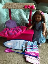 American Girl Doll ~ GOTY 2011 ~ Kanani lot w/Paddleboard, Ice Stand and more