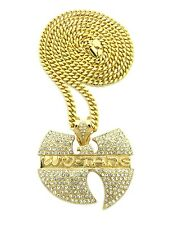 "NEW ICED OUT WU TANG PENDANT &36"" MIAMI CUBAN CHAIN HIP HOP NECKLACE - XP868MC"