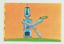 Original 1965 Spanish Gerry Anderson Fireball XL5 Supercar stamp Robot with gun