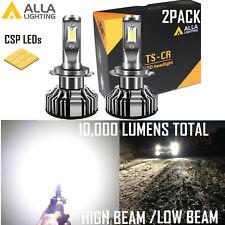 Alla Lighting 10000lm LED H3 TS-CR Cornering Light Bulb 6000K Xenon White 1pair