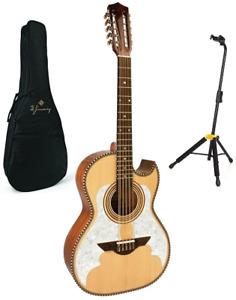 H. Jimenez Bajo Quinto El Murcielago Solid Spruce Top Acoustic +FREE Bag & Stand