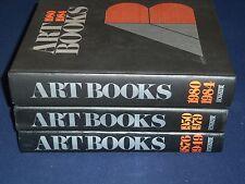 1876-1984 ART BOOKS INTERNATIONAL INDEX OF SERIAL PUBLICATION LOT OF 3 - KD 3480