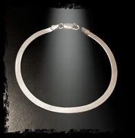Bracelet Fin Maille Miroir En Argent Massif 925/000 Bijoux Femme