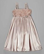 NEW 4T Dusty Pink Satin Toddler Girls Christmas Holiday Dress