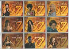 """Women of James Bond In Motion - """"Femmes Fatales"""" Set of 9 Chase Cards F1-F9"""