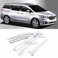 Chrome Window Sun Vent Visor Rain Guards 6P C584 For KIA 2015-19 Sedona Carnival