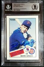 1988 Peoria Chiefs Mark Grace Signed Minor Rookie Autograph RC Auto BGS BAS Cubs