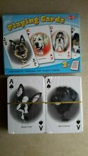 """""""DOGS"""" ILLUSTRATED DOUBLE DECK OF PLAYING CARDS. (SEALED=MINT)"""
