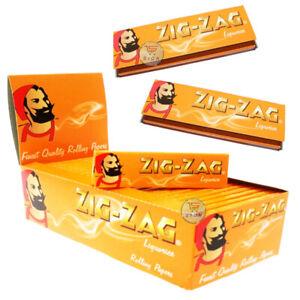 ZIG ZAG LIQUORICE STANDARD SMOKING CIGARETTE ROLLING PAPERS 5 /10/15/20/25/30/50