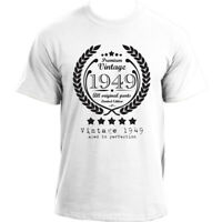 Premium Vintage 1949 Aged to Perfection Limited Edition Birthday Present Mens...