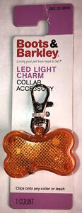 3 Mode LED Bone Shape Clip On Dog Tag Pet Safety Collar Light Accessory New