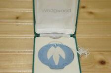 """Wedgwood Annual Jasperware Ornament 1989 Angel, 2 1/8"""", in Box"""