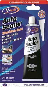 V-Tech VT-131 BLACK Auto Sealer Silicone Adhesive Sealant 75gm Windscreen Repair