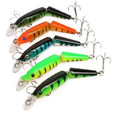 5pcs Minnow Fishing Lures Multi-jointed Bait Life-like Swimbait Bass Pike