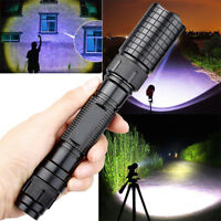 Zoomable 90000 Lumens High Power T6 LED Flashlight Torch 18650 Battery Charger K