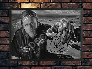 SONS OF ANARCHY CHARLIE HUNNAM SIGNED LIMITED EDITION  AUTOGRAPHED PHOTO PRINT